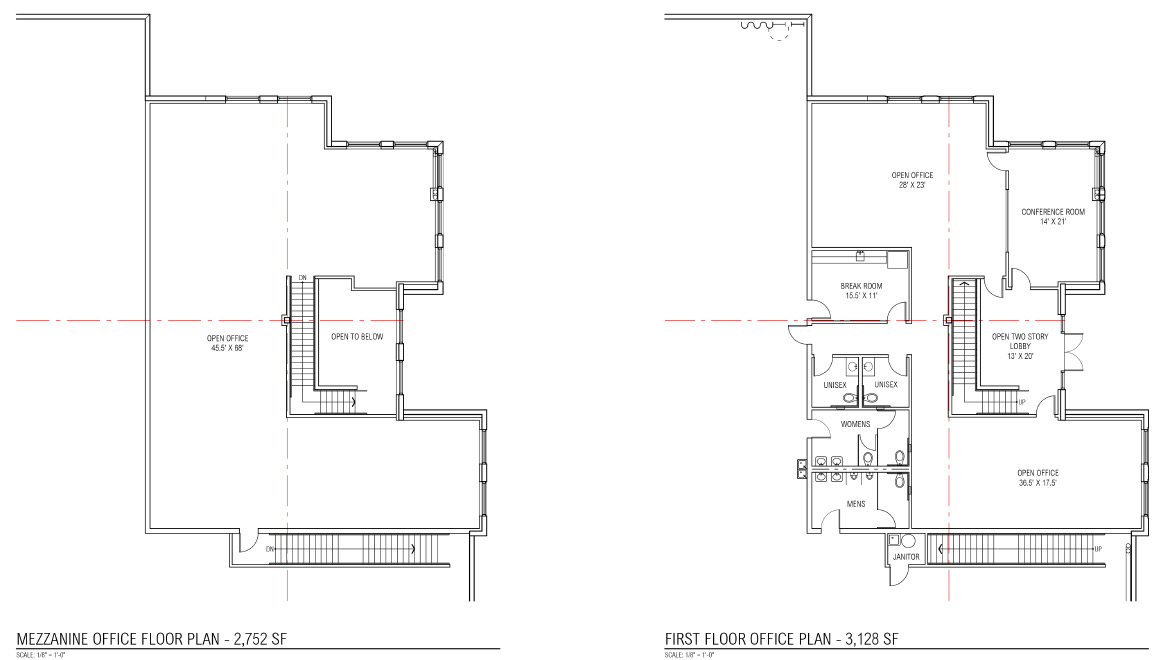 Saddle Ranch Business Center - Building 2 Office Plans